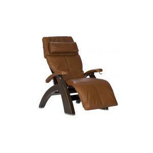 Human Touch - Perfect Chair ® PC-420 Classic Manual Plus - Dark Walnut - Cognac Premium Leather