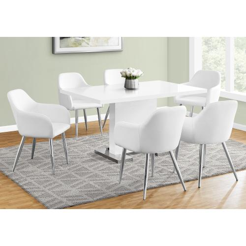 "DINING TABLE - 35""X 60"" / HIGH GLOSSY WHITE"