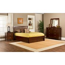 Metro 4pc King Cherry Bedroom with Liza Storage Bed