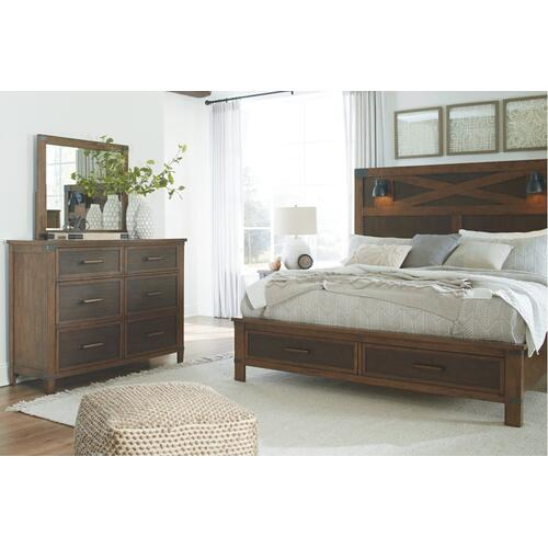 Wyattfield King Panel Bed With Storage