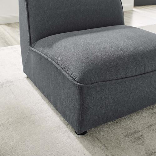 Modway - Comprise Armless Chair in Charcoal