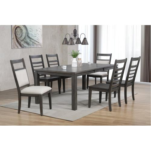 Dining Set w/Upholstered End Chairs - Shades of Gray (7 Piece)