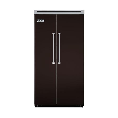 "Viking - Chocolate 42"" Side-by-Side Refrigerator/Freezer - VISB (Integrated Installation)"