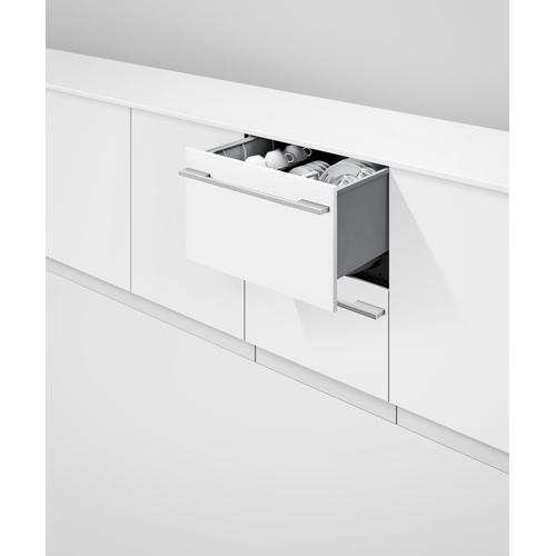 Fisher & Paykel - Integrated Double DishDrawer™ Dishwasher, Sanitize