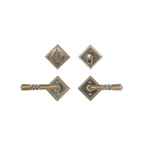 "Diamond Entry Set - 3 9/16"" White Bronze Brushed"