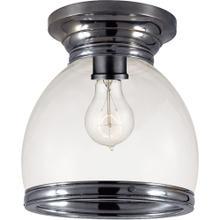 Visual Comfort CHC4132BZ-CG E. F. Chapman Edwardian 1 Light 10 inch Bronze Flush Mount Ceiling Light in Clear Glass, Open Bottom
