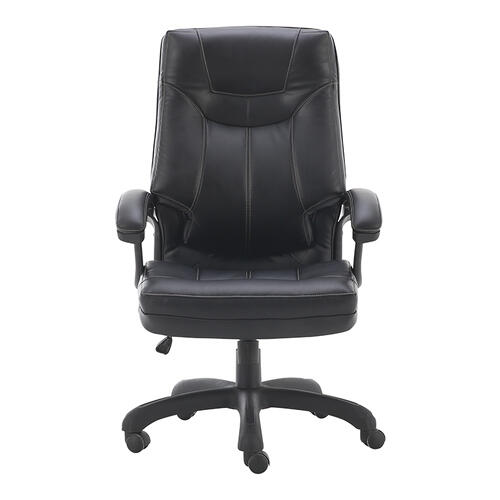 Thick padded contour seat and back with built-in lumbar support
