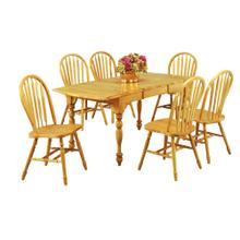 DLU-TDX3472-820-LO7PC  7 Piece Drop Leaf Extendable Dining Set  Arrowback Chairs