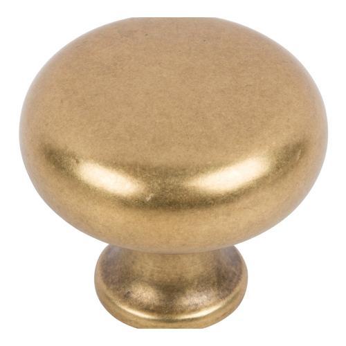 Round Knob 1 1/4 Inch - Vintage Brass