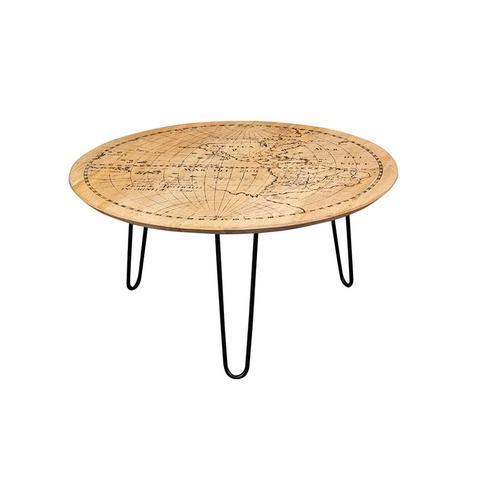 Porter International Designs - World Map Coffee Table, 1901-151A