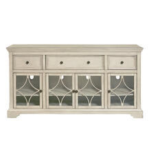 Cream kd four door three drawer console
