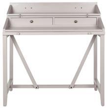 Wyatt Writing Desk W / Pull Out - Quartz Grey