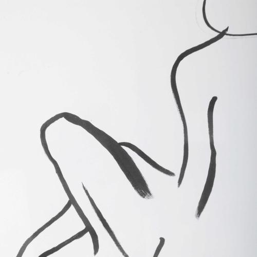 Feminine Sketch Framed Prints, S/2