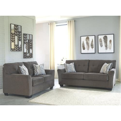Alsen Sofa and Loveseat Granite