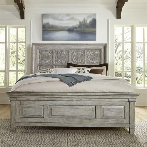 King Opt California Panel Bed, Dresser & Mirror