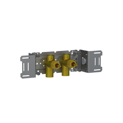 Build-in double stop valve, 3/4""