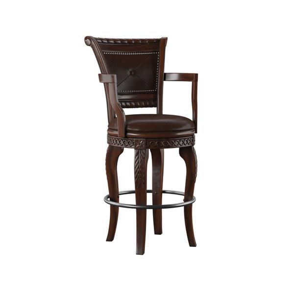 See Details - Antoinette PU Swivel Bar Chair