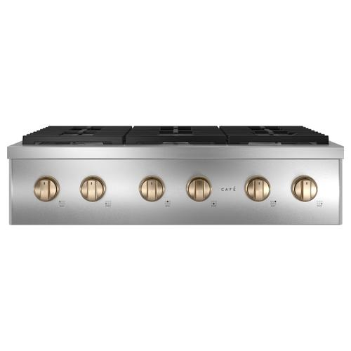 """Cafe - Café™ 36"""" Commercial-Style Gas Rangetop with 6 Burners (Natural Gas)"""