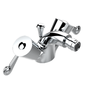 Single hole bidet faucet with drain
