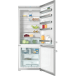 MieleMiele KFN 15943 DE edt/cs - Freestanding fridge-freezer 30&quot (75 cm) wide for a lot of storage space.