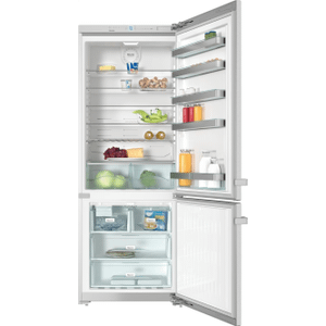 "MieleKFN 15943 DE edt/cs - Freestanding fridge-freezer 30"" (75 cm) wide for a lot of storage space."
