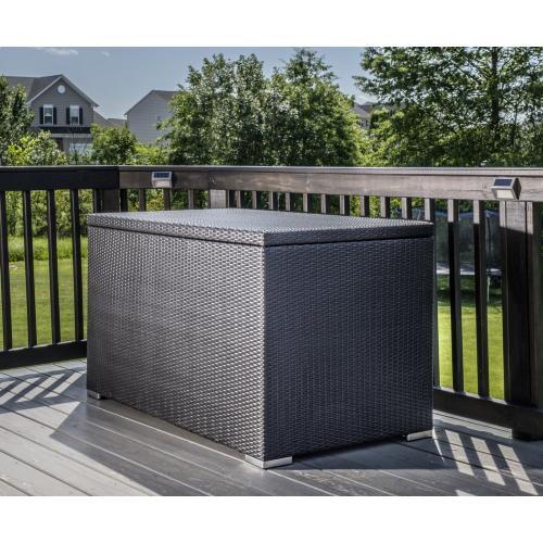 Alfresco Home - Sicuro Wicker Cushion Storage Box w/ hydraulic lid