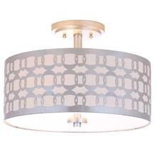 Cedar Linked 3 Light 15-inch Dia Silver Flush Mount - Silver