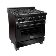 "ZLINE 30"" Black Stainless 4.0 cu.ft. 4 Gas Burner/Electric Oven Range (RAB-30)"