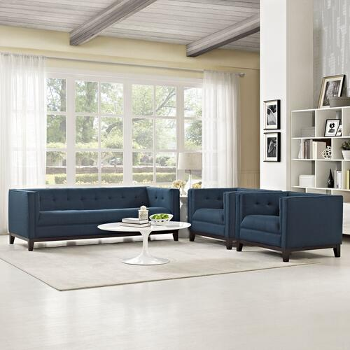 Serve Living Room Set Set of 3 in Azure