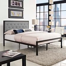 View Product - Mia Full Fabric Bed in Brown Gray
