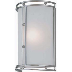 Wall Sconce, Ps/frost Glass Shade, E12 Type B 60w