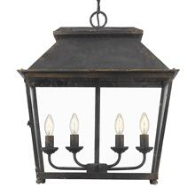 See Details - Abingdon 4 Light Pendant Lantern ,Antique Black Iron