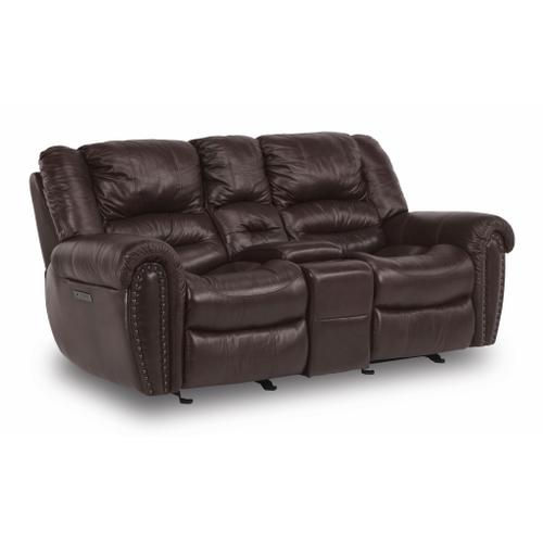 Flexsteel - Town Power Reclining Loveseat with Console and Power Headrests