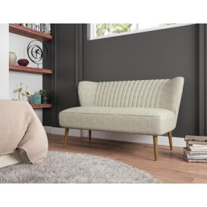 Accentrics Home - Mid-Century Modern Loveseat in Oatmeal Beige