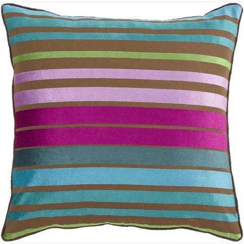 """Velvet Stripe JS-019 18"""" x 18"""" Pillow Shell with Polyester Insert"""