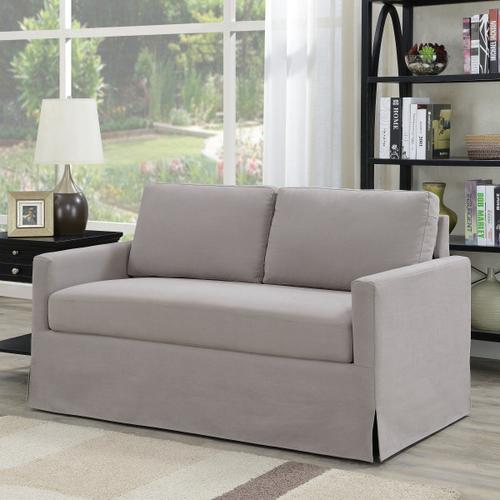 Modern Slipcover Style Sofa in Storm Gray