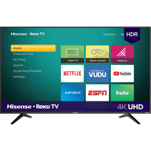 """50"""" Class - R6 Series - 4K UHD Hisense Roku TV with HDR (2019) SUPPORT"""