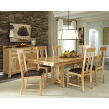 7 Piece Set (Extension Dining Table and 6 Side Chairs)