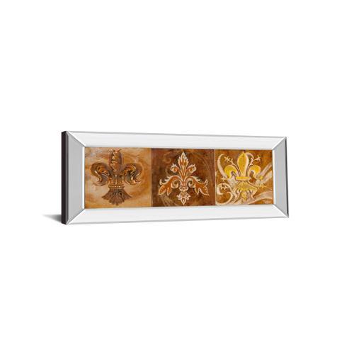 """Fleur De Lis Trio Il"" By Thomas Riker Mirror Framed Print Wall Art"