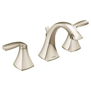 Voss polished nickel two-handle bathroom faucet
