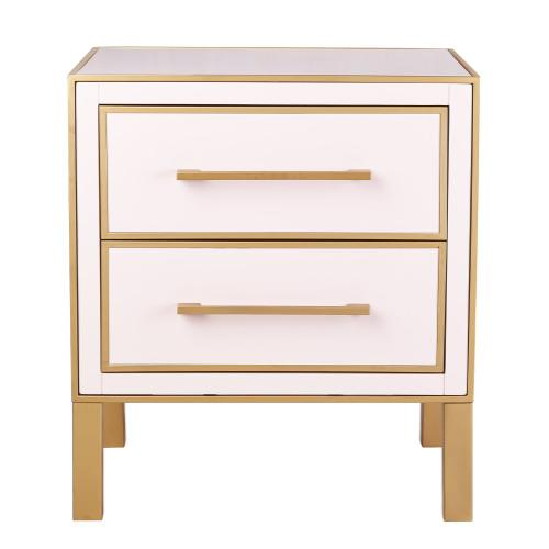 Tov Furniture - Emily Pink Lacquer Side Table