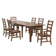 See Details - Rectangular Extendable Table Dining Set - Amish (7 Pieces)