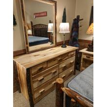 See Details - Hickory 7-Drawer Dresser