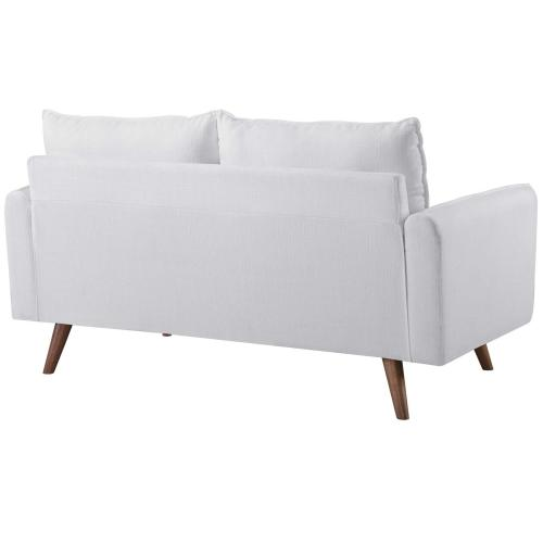Modway - Revive Upholstered Fabric Loveseat in White