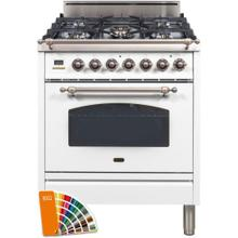 See Details - Nostalgie 30 Inch Gas Natural Gas Freestanding Range in Custom RAL Color with Bronze Trim