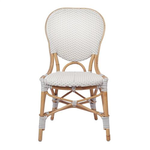 Product Image - Leblanc Paris Bistro Dining Side Chair, White/ Gray