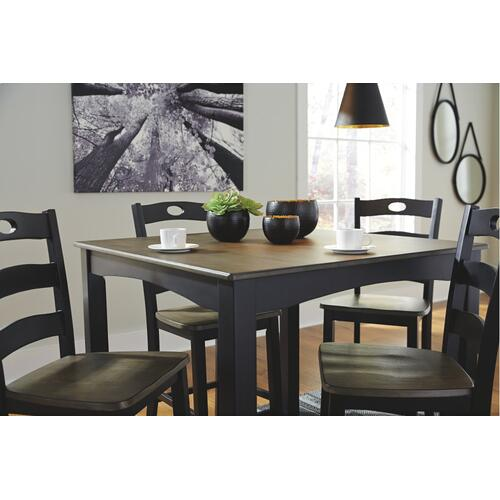 Froshburg Counter Height Dining Table and Bar Stools (set of 5)