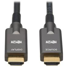 See Details - High-Speed Armored HDMI Fiber Active Optical Cable (AOC) - 4K @ 60 Hz, HDR, 4:4:4, M/M, Black, 10 m