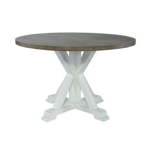 Single Pedestal Table- White