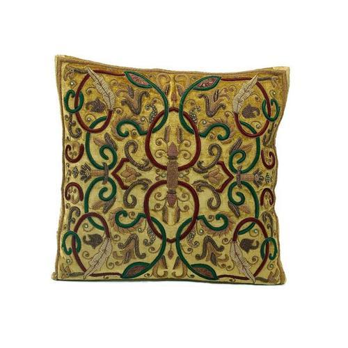 Antique Gold Velvet Pillow